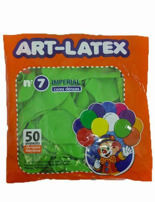 Balão Liso Art-Latex Verde Lima nº 7 - c/50 unidades