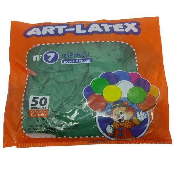 Balão Liso Art-Latex Verde nº 7 - c/50 unidades