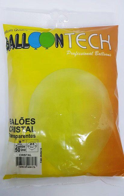 Balão Liso Balloontech Cristal nº 9 - c/50 unidades