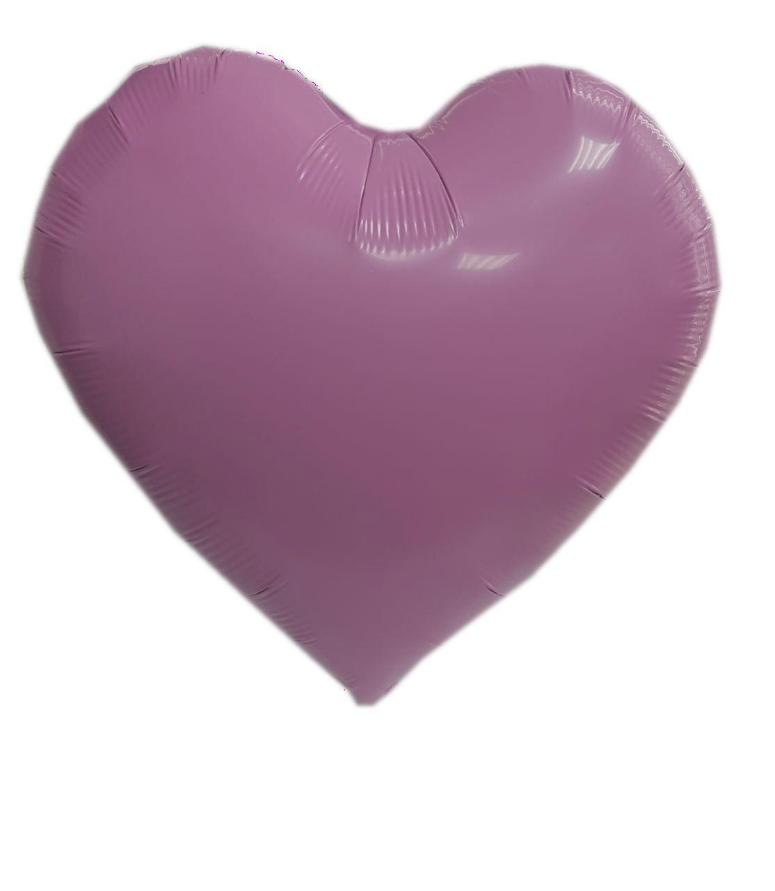 """Balão Metalizado Coração Rosa Candy 18"""" polegadas 45 cm - unidade"""