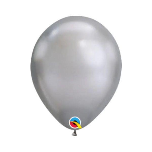 Balão Qualátex Chrome Prata nº 11 unidade