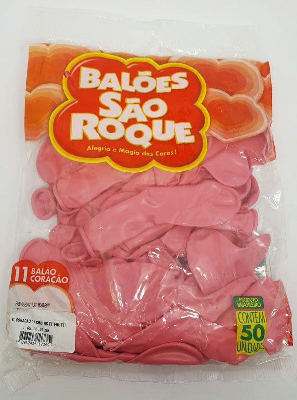 Balão São Roque Coração Tutti-Frutti nº11 c/50 unidades