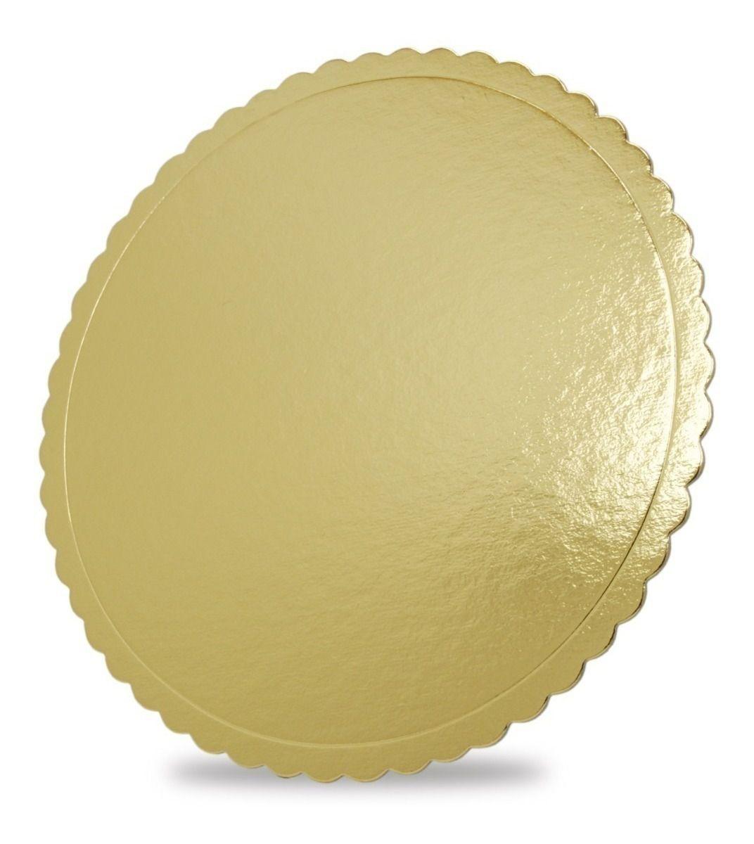 Base para Bolo Cakeboard Papieri Dourado 32 cm - unidade
