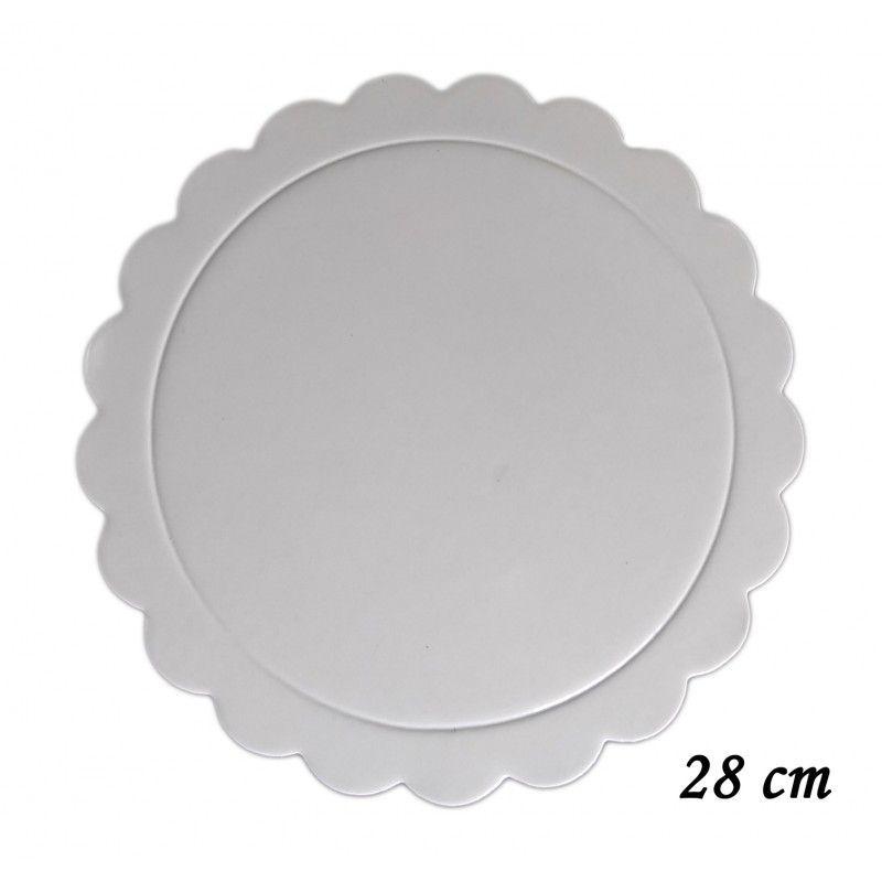 Base para Bolo Cakeboard Prime Chef branco 28 cm unidade