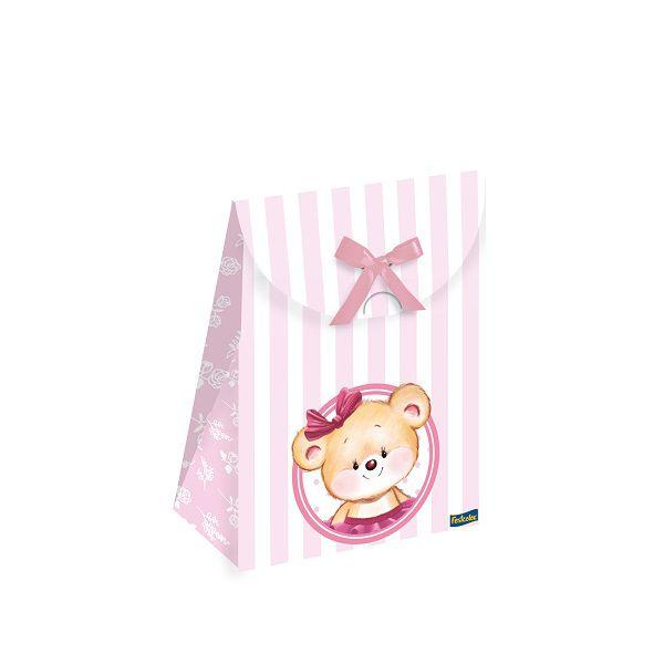 Caixa Lembrança Especial Ursinha Rosa c/08 unidades