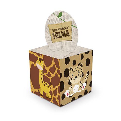 Caixa Para Lembrancinhas Bem-Vindo À Selva c/08 unidades