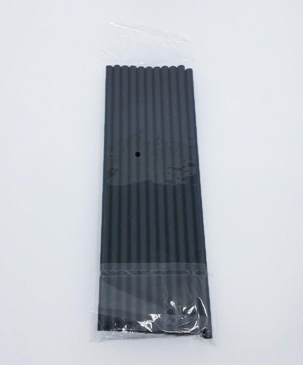 Canudo de Papel Liso Preto c/20 unidades