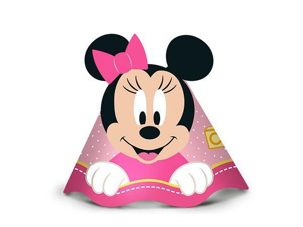 Chapéu Decorado Baby Disney Minnie c/08 unidades
