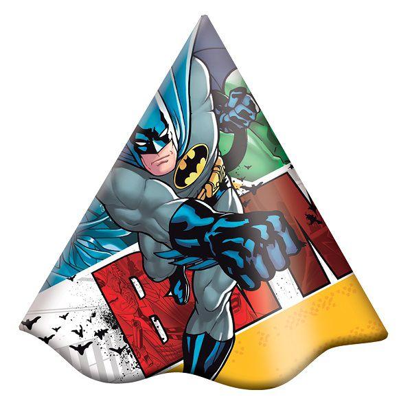 Chapéu Decorado Batman c/08 unidades