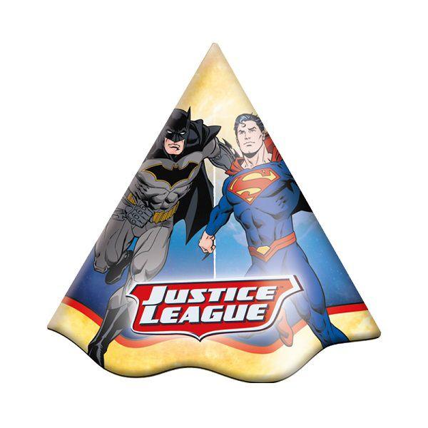 Chapéu Decorado Liga da Justiça c/08 unidades