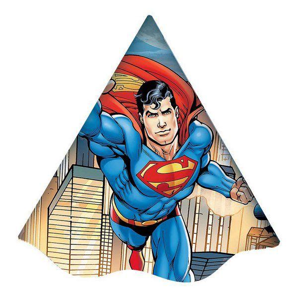 Chapéu Decorado Superman c/08 unidades