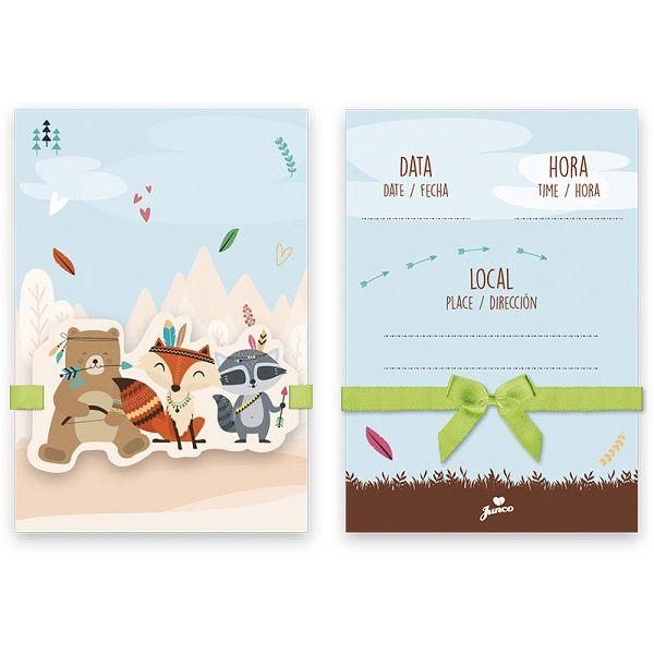 Convite Animais da Floresta c/08 unidades