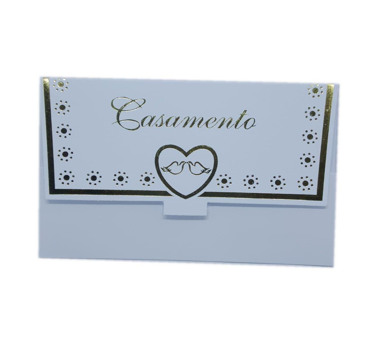 Convite Casamento c/10 unidades