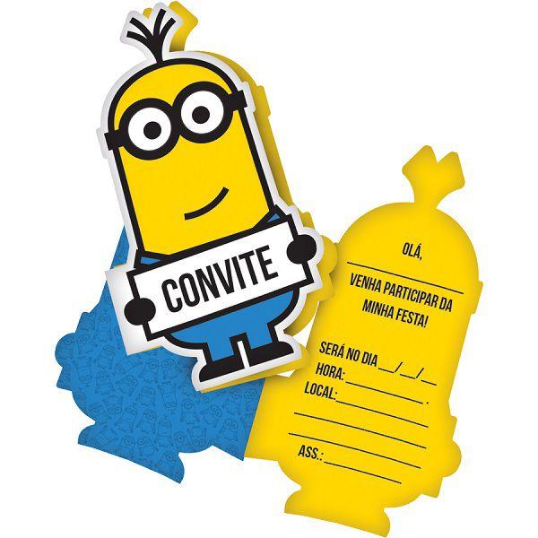 Convite Minions c/08 unidades