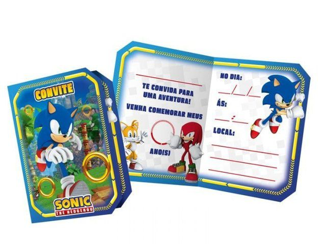 Convite Sonic c/08 unidades
