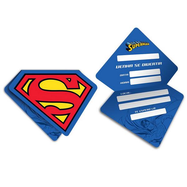 Convite Superman c/08 unidades