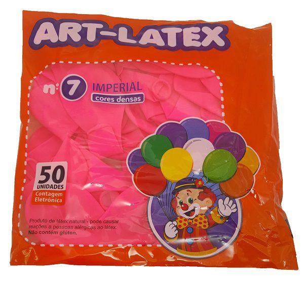 Balão Liso Art-Latex Rosa Pink nº 7 - c/50 unidades