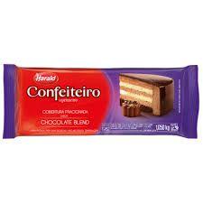 Harald Confeiteiro Barra Cobertura Fracionada Chocolate Blend 1,050 kg