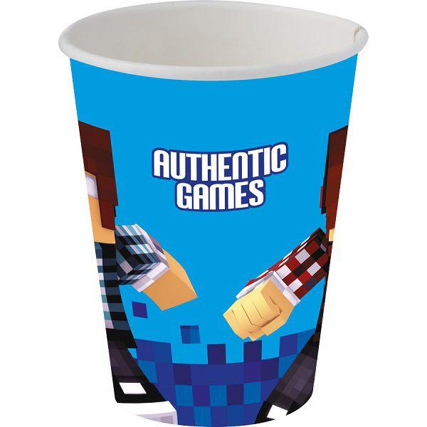 Copo de Papel Decorado Authentic Games c/08 unidades - 200 ml