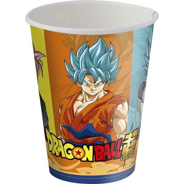 Copo de Papel Decorado Dragon Ball c/08 unidades - 200 ml