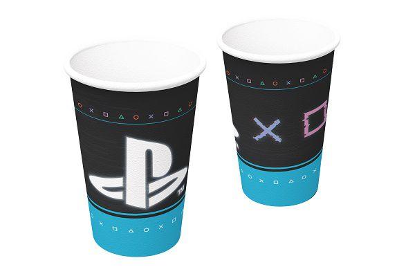 Copo de Papel Decorado PlayStation c/08 unidades - 200 ml