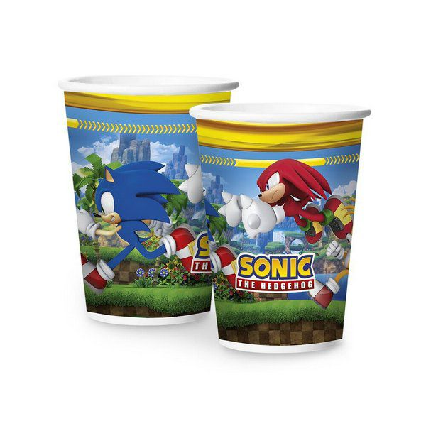 Copo Decorado Sonic c/08 unidades