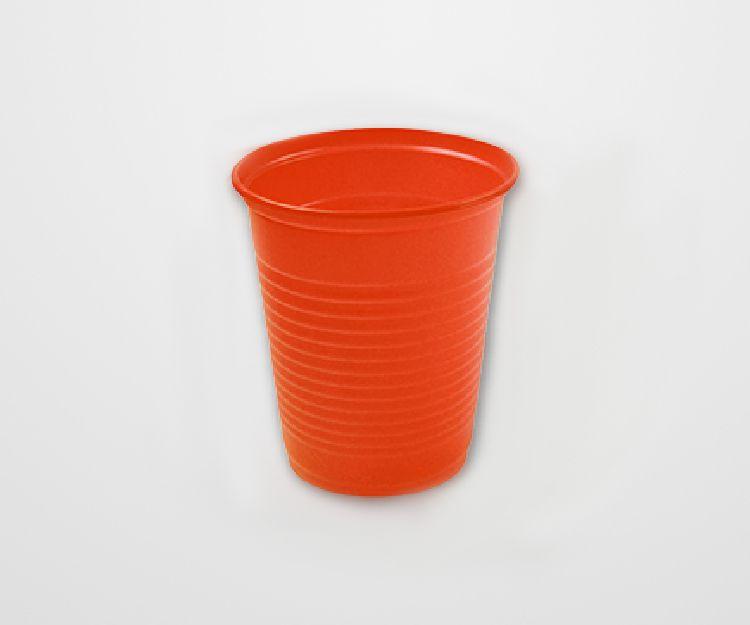 Copo Descartável Forfest Laranja c/50 unidades - 200 ml