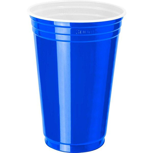 Copo Festa Estilo Americano Azul c/25 unidades - 300 ml