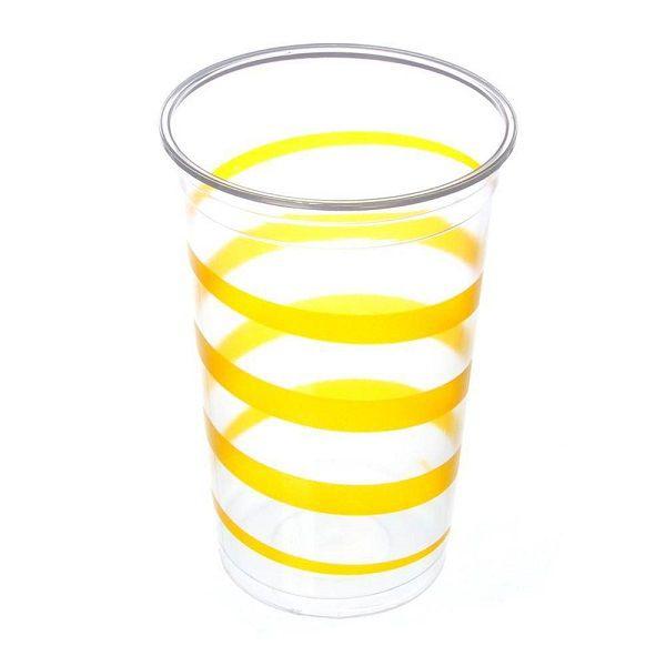 Copo Mania Espiral Amarelo c/30 unidades - 300 ml
