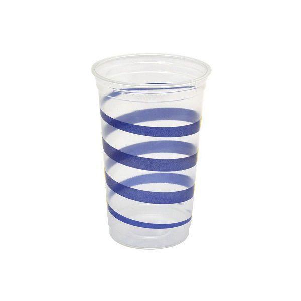 Copo Mania Espiral Azul c/30 unidades - 300 ml