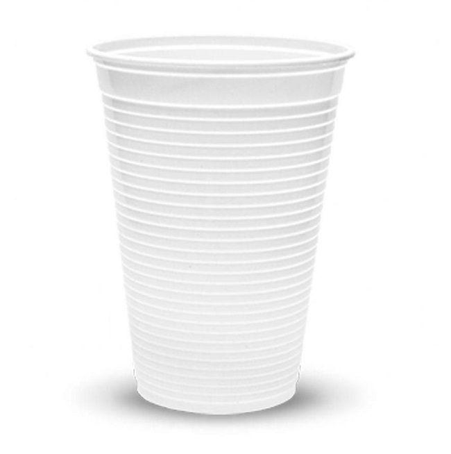 Copo Plástico Branco c/100 unidades - 300 ml