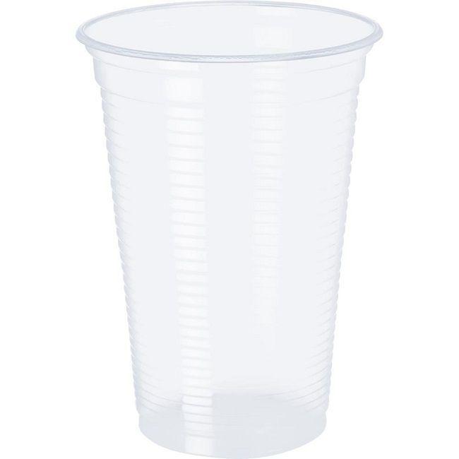 Copo Plástico Transparente c/100 unidades - 250 ml