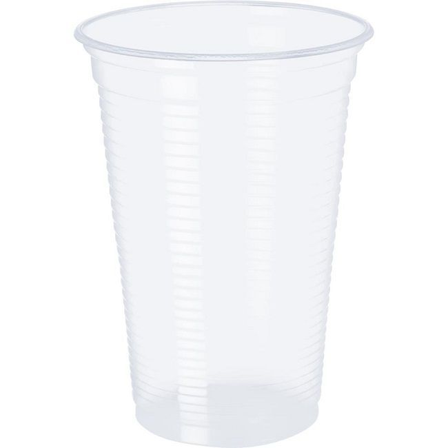 Copo Plástico Transparente c/100 unidades - 300 ml