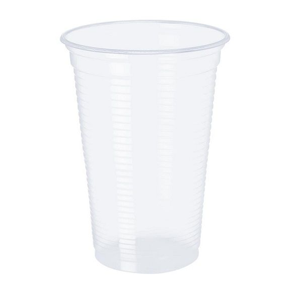 Copo Plástico Transparente c/100 unidades - 180 ml