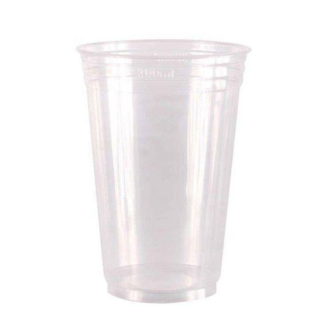 Copo Plástico Transparente c/50 unidades - 300 ml