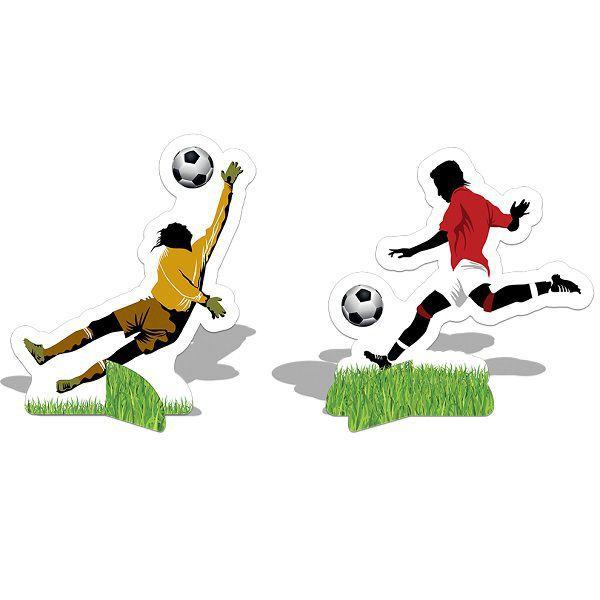 Decoração de Mesa Apaixonados Por Futebol c/08 unidades