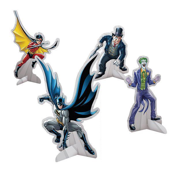 Decoração de Mesa Batman c/08 unidades