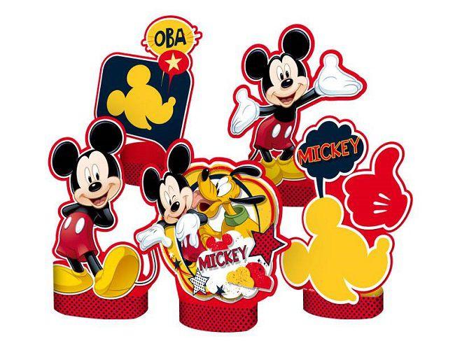 Decoração de Mesa Mickey Clássico c/05 unidades