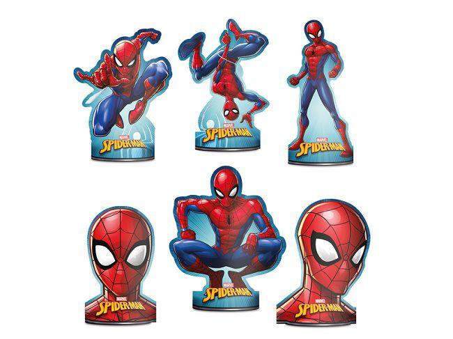 Decoração de Mesa Spider Man Animação c/06 unidades
