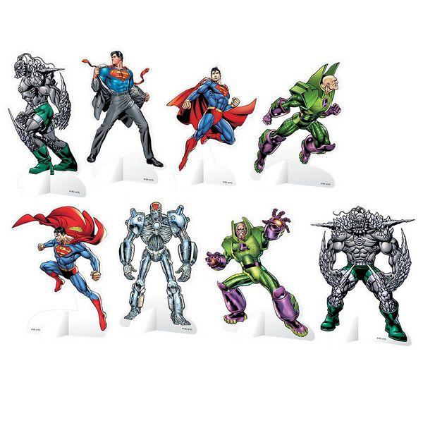 Decoração de Mesa Superman c/08 unidades