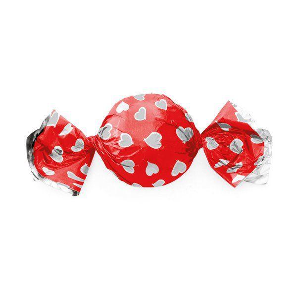 Embalagem p/ Trufas e Bombons Corações Vermelho 15 cm x 16 cm c/100 unidades
