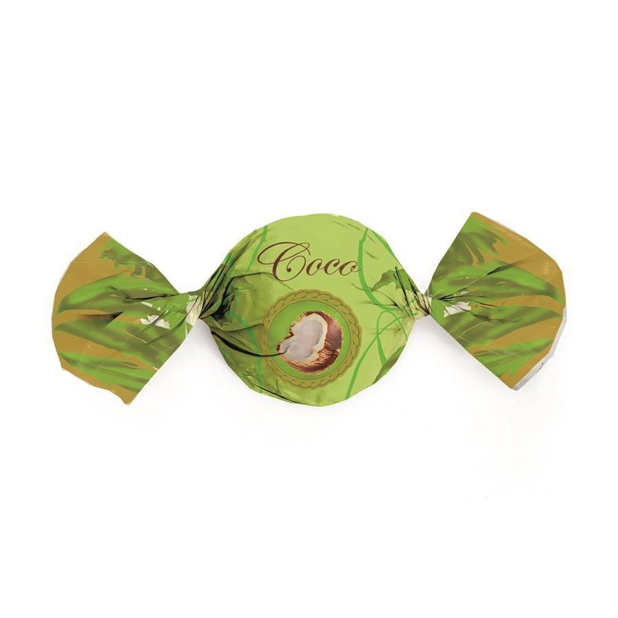 Embalagem p/ Trufas e Bombons Sabor Coco 15 cm x 16 cm c/100 unidades