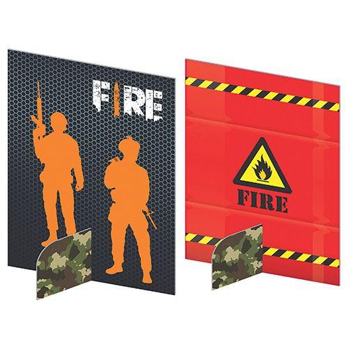 Enfeites de Mesa Festa Fire c/05 unidades