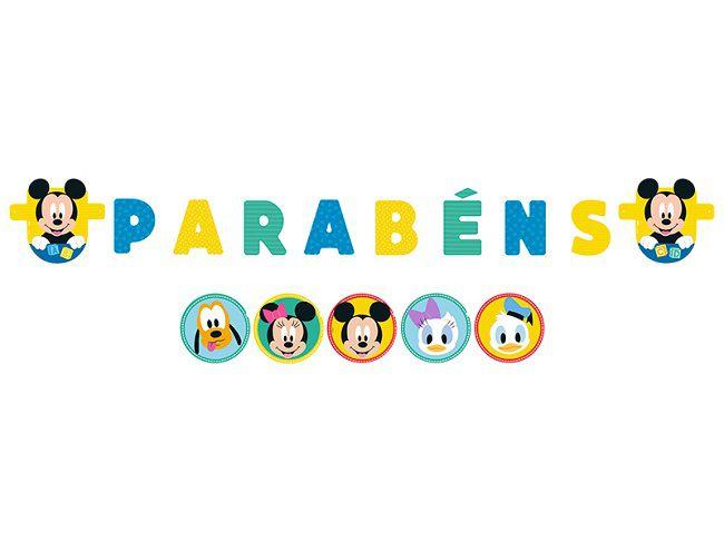 Faixa Parabéns Baby Disney Mickey
