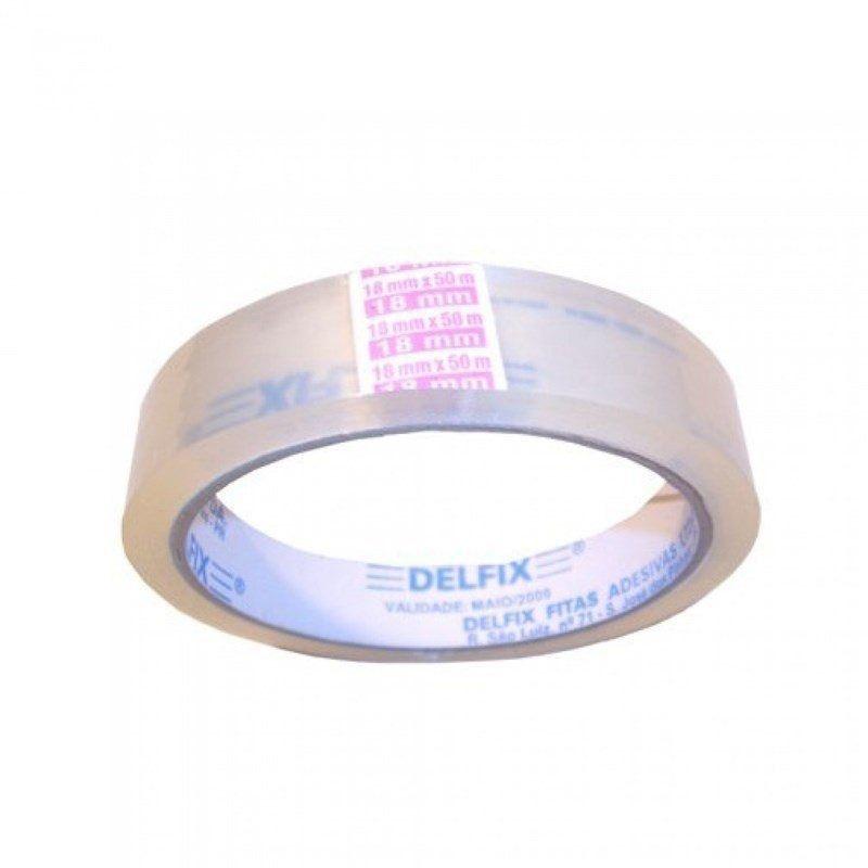 Fita Adesiva Delfix 18 mm x 50 m - unidade