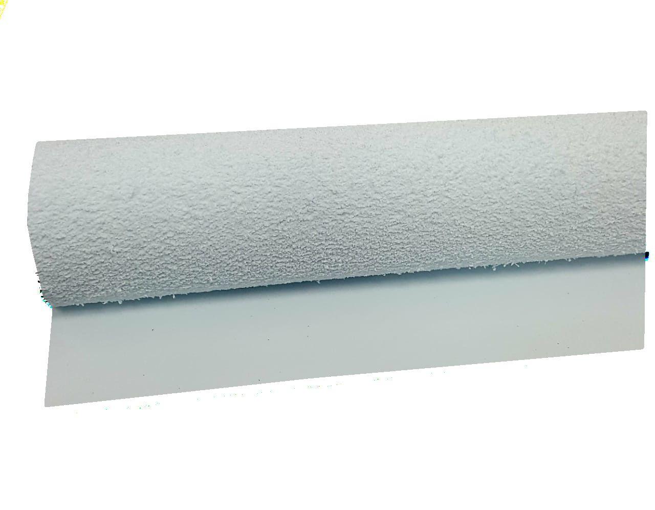 Folha E.V.A Atoalhado Cor Branco 40 cm x 48 cm - unidade