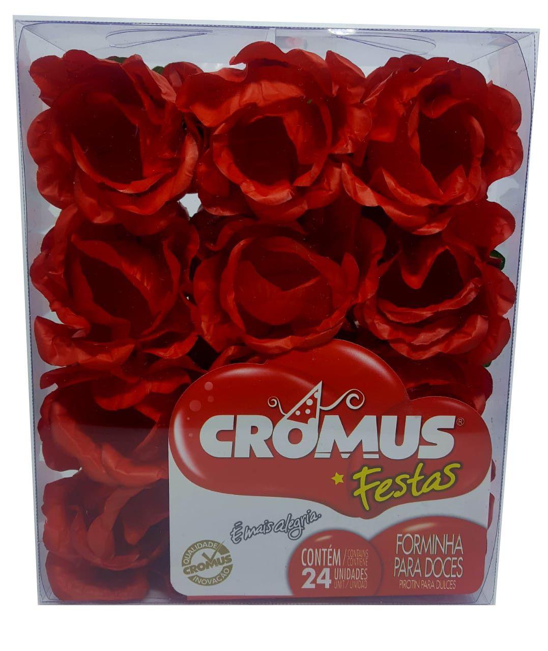 Forminha para Doces Cromus Amarilis Vermelha c/24 unidades