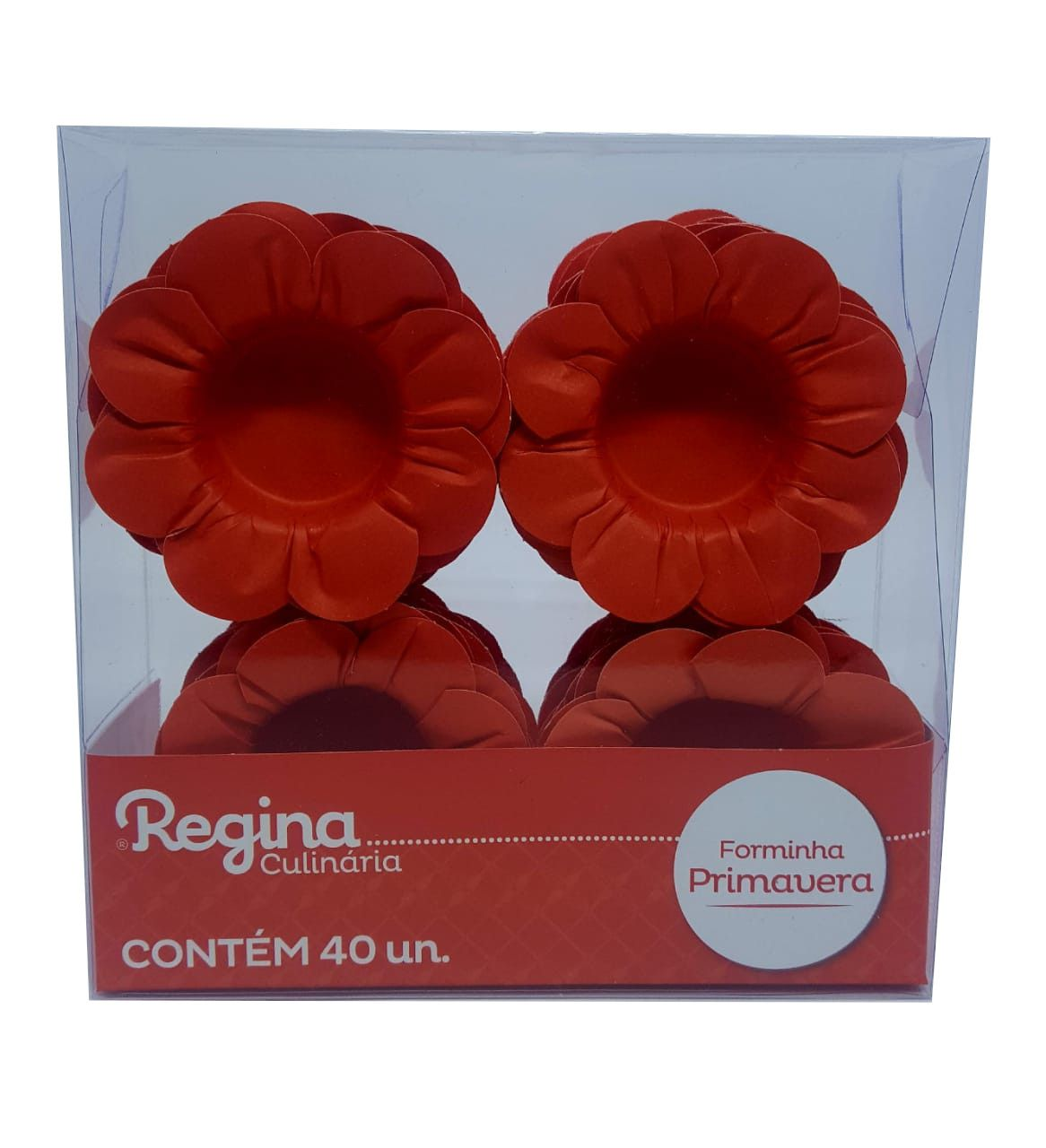 Forminha para Doces Regina Primavera Vermelho c/40 unidades