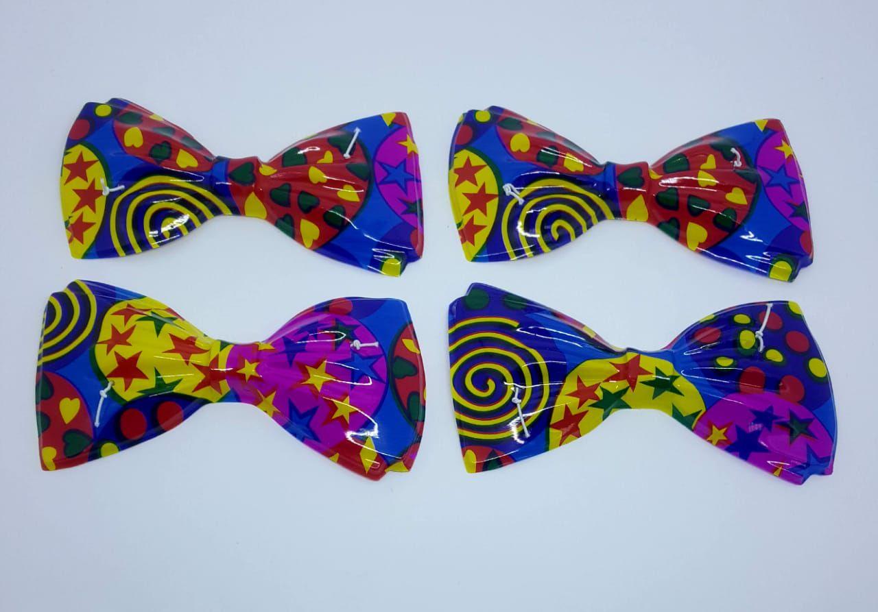 Gravata Borboleta PVC Colorida c/12 unidades