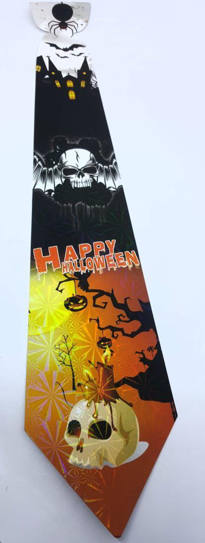 Gravata Holográfica Halloween c/12 unidades